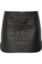 Alexander Wang Paisley Quilted Leather Skirt