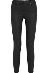Madewell Coated High Rise Skinny Jeans Black