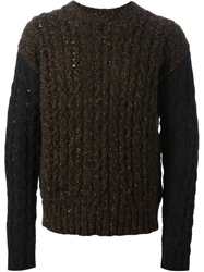 Diesel Cable Knit Sweater Brown