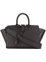 Saint Laurent Small 'Monogram Downtown Cabas' Tote Brown