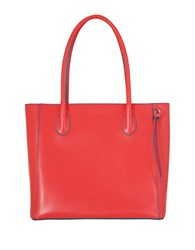 Lodis Audrey Cecily Leather Satchel Coral Turquoise