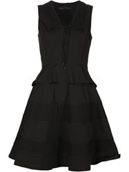 Proenza Schouler Flared Peplum Dress Black