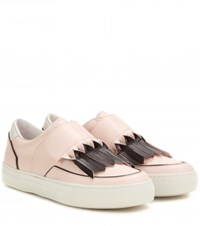 Tod's Sportivo Frangia Origami Leather Sneakers Pink