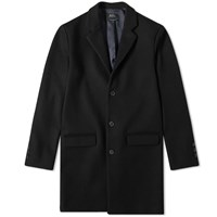 A.P.C. Wool Chesterfield Coat Black