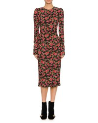Dolce And Gabbana Floral Pencil Dress Multi Multi Pattern