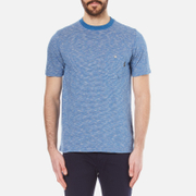 Paul Smith Ps By Men's Striped Crew Neck T Shirt Indigo Blue