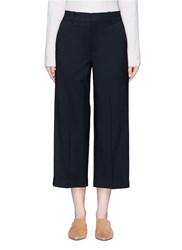 Vince Wool Tailored Suiting Culottes Black