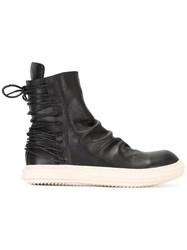 D.Gnak Laced Back Boots Black