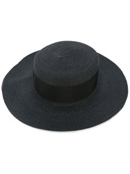 Federica Moretti Wide Brim Hat Women Cotton Hemp Viscose L Black