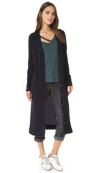 Three Dots Roxanne Long Cardigan Night Iris