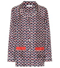 Valentino Printed Silk Twill Pajama Shirt Multicoloured