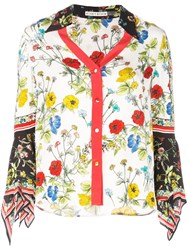 Alice Olivia Floral Print Blouse Red