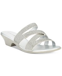 Karen Scott Embir Sandals Created For Macy's Women's Shoes Silver