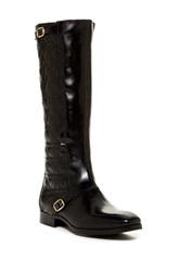 Catherine Malandrino Ava Quilted Riding Boot Black
