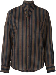 Kenzo Vintage Striped Shirt Black