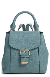 Burberry 'Belmont' Convertible Leather Backpack Blue Celedon Blue