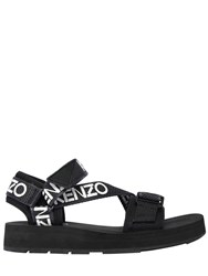 Kenzo 30Mm Papaya Nylon Sandals Black