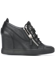 Giuseppe Zanotti Design 'Sonya' Wedge Sneakers Black