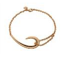 Shaun Leane Silver And Rose Gold Plate Hook Bracelet