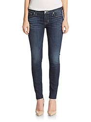 Hudson Distressed Mid Rise Ankle Skinny Jeans Bonaire