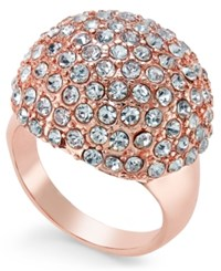 Thalia Sodi Rose Gold Tone Pave Dome Ring Only At Macy's