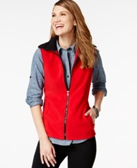 American Living Solid Fleece Vest Only At Macy's Rich Red