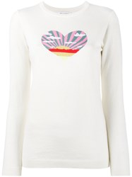 Bella Freud Sunset Heart Intarsia Jumper Nude Neutrals