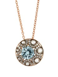 Selim Mouzannar Diamond And Aquamarine Mille Et Une Nuits Necklace Pink Gold