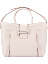 Tod's Double T Medium Shopping Bag Pink