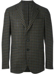 Caruso Plaid Single Breasted Blazer Multicolour