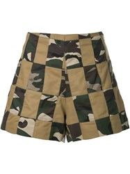 Manning Cartell Patchwork Shorts Brown