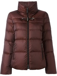 Fay Roll Neck Puffer Jacket Red