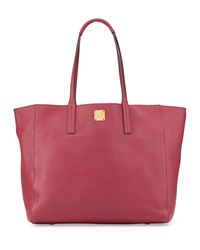 Shopper Project Reversible Leather Tote Bag Scooter Red Gold Mcm