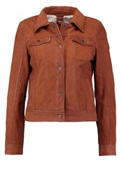 Gipsy Leather Jacket Cognac Brown