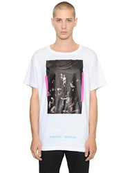 Off White Caravaggio Printed Cotton Jersey T Shirt