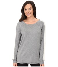 Pj Salvage Cable Sweatshirt Heather Grey Women's Pajama Gray