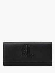 Ralph Lauren Trapunto Leather Continental Purse Black