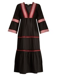 Daft Istanbul Embroidered Cotton Dress Black