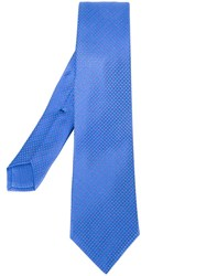 Kiton Dotted Tie Blue