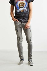Bdg Destructed Grey Super Skinny Jean Light Grey