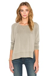 Stateside Split Side Sweatshirt Olive