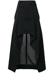 Lost And Found Ria Dunn Origami Style Bretelle Skirt Black