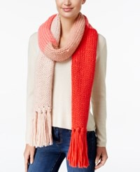 Kate Spade New York Chunky Knit Colorblock Scarf Persimmon Grove