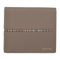 Paul Smith Taupe Multistripe Insert Wallet