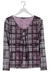 Comma Long Sleeved Top Lila Mauve