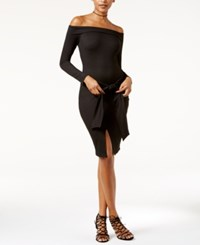 Material Girl Juniors' Off The Shoulder Bodycon Dress Only At Macy's Caviar Black