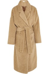 Isa Arfen Oversized Brushed Alpaca And Mohair Blend Coat