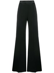 Alberta Ferretti Contrast Side Panels Trousers Black