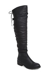 Very Volatile Women's Densey Over The Knee Boot Black Faux Leather