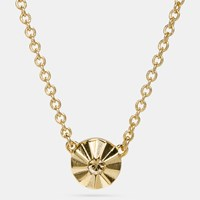Coach Delicate Daisy Rivet Necklace Gold